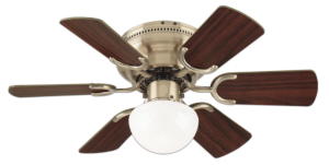 Westinghouse 78603 Petite 6-Blade 30-Inch 3-Speed Hugger-Style Ceiling Fan with Light Antique Brass