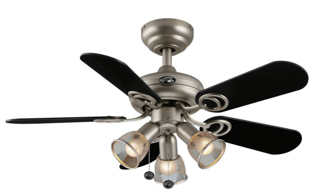 Hampton Bay San Marino 36-inch Brushed Steel Ceiling Fan