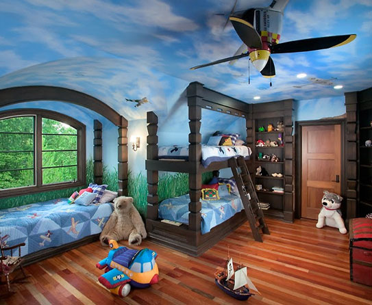 Boys bedroom ceiling fan