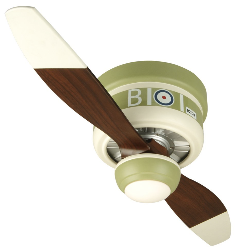 Craftmade WB242SC 42-Inch Warplane 2-Blade Ceiling Fan with Integrated Light Kit, Sopwith Camel