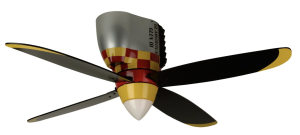 Craftmade WB448GG4, Warplanes Glamorous Glen Flush Mount Kids 48%22 Ceiling Fan with Light