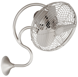 Matthews Fan Company ME-BN Wall Fan, Brushed Nickel Finish