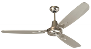 Craftmade VE58SS3, Velocity Stainless Steel 58%22 Ceiling Fan with Wall Control - Steel