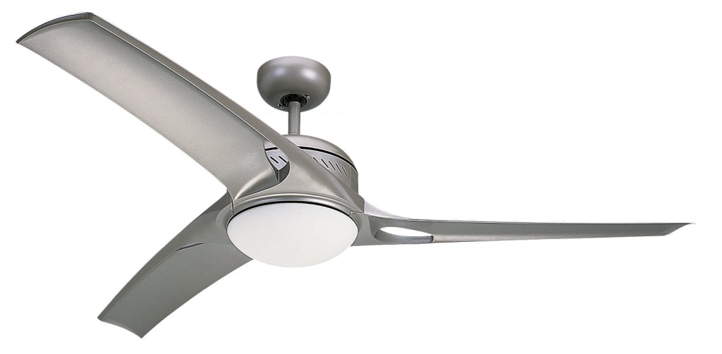 Monte Carlo 3MO52TMO-L, Mach One Ceiling Fan with Light & Wall and Remote Control, 52%22, Titanium