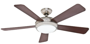 Hunter Fan Company 59052 Contemporary Palermo Ceiling Fan with Five Cherry:Maple Blades, 52-Inch, Brushed Nickel