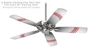 Baseball Ceiling Fan Vinyl Decal Skin Kit fits most 42 inch fans - FAN and BLADES SOLD SEPARATELY