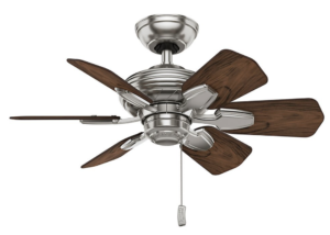 Casablanca Fan Company 59524 Wailea 31-Inch Brushed Nickel Ceiling Fan with Six Dark Walnut Blades