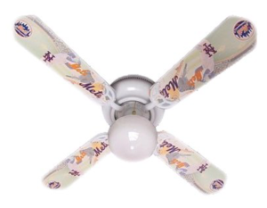 Designers Ceiling Fan 42 inch, Mlb New York Mets Baseball Ceiling Fan