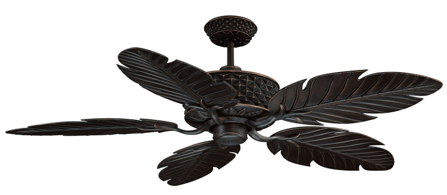Ellington PAP52ABZ5RCDI, Pineapple Aged Bronze 52-inch Tropical Outdoor Ceiling Fan