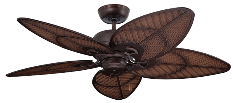Emerson Ceiling Fans CF621VNB Batalie Breeze Tropical Ceiling fans 52-Inch Indoor Outdoor Ceiling Fan, Wet Rated, Light Kit Adaptable, Venetian Bronze Finish