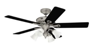 Hunter Westbury 4-Light 54-Inch 5 Black Light Cherry Blades Ceiling Fan